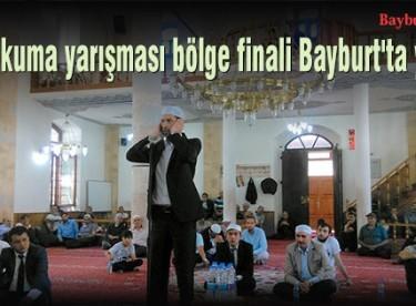 Ezan okuma yarışması bölge finali Bayburt'ta yapıldı