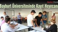 Bayburt Üniversitesinde Kayıt Heyecanı