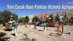 Bayburt'ta yeni Çocuk Oyun Parkları Hizmete Açılıyor