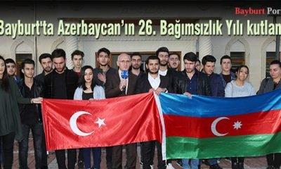 Bayburt'ta Azerbaycan'ın 26. Bağımsızlık Yılı kutlandı