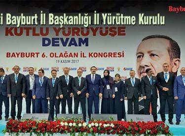 AK Parti Bayburt İl Yürütme Kurulu belirlendi