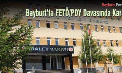 Bayburt'ta FETÖ/PDY Davasında Karar
