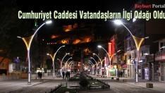 Bayburt Cumhuriyet Caddesi ışıl ışıl