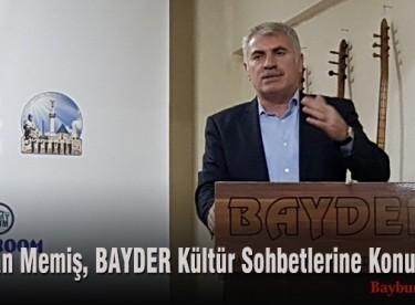 Başkan Memiş, BAYDER Kültür Sohbetlerine Konuk Oldu