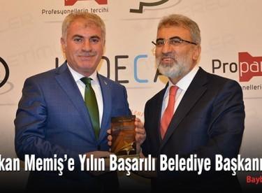 Başkan Memiş'e Yılın Başarılı Belediye Başkanı Ödülü