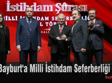 Bayburt'a Milli İstihdam Seferberliği ödülü