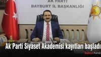 Ak Parti Siyaset Akademisi kayıtları başladı