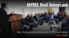 BAYDER, Binali Selman'ı andı