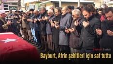 Bayburt, Afrin şehitleri için saf tuttu