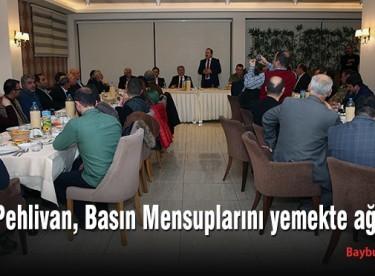 Vali Pehlivan, Basın Mensuplarını yemekte ağırladı