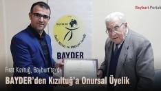 BAYDER'den Fırat Kızıltuğ'a Onursal Üyelik