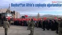 Bayburt'tan Afrin'e coşkuyla uğurlandılar