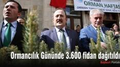 Ormancılık Gününde 3.600 fidan dağıtıldı
