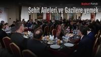 Şehit Aileleri ve Gazilere yemek verildi