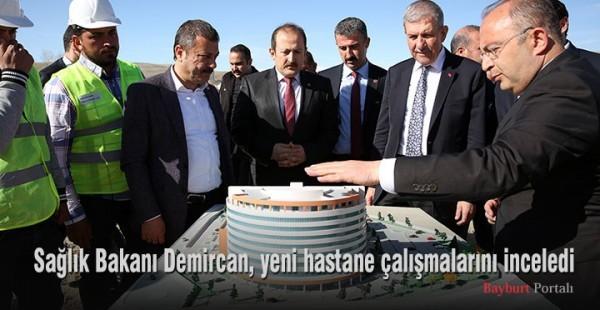 Sağlık Bakanı Demircan, yeni hastane çalışmalarını inceledi