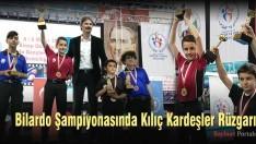 Bilardo Şampiyonasında Kılıç Kardeşler Rüzgarı