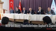 MEB Üst Düzey Yöneticilerinden Bayburt'a Ziyaret