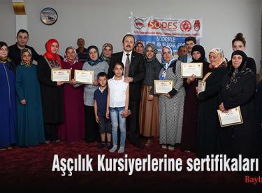 Aşçılık Kursiyerlerine sertifikaları verildi