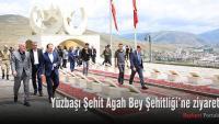 Yüzbaşı Şehit Agah Bey Şehitliği'ne ziyaret