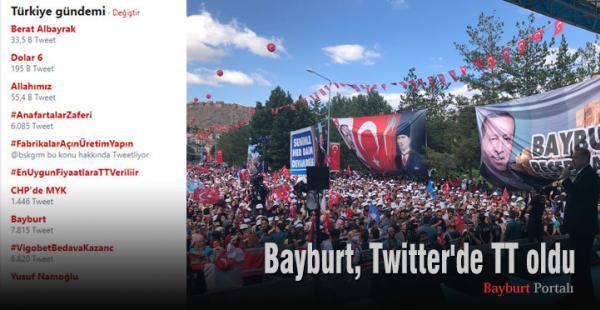 Bayburt, Twitter'de TT oldu