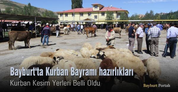 Bayburt'ta Kurban Bayramı hazırlıkları