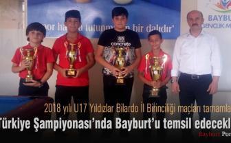 Türkiye Şampiyonasında Bayburt'u temsil edecekler