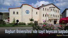 Bayburt Üniversitesi'nde kayıt heyecanı başladı