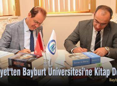 Emniyet'ten, Bayburt Üniversitesi'ne Kitap Desteği
