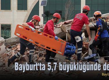 Bayburt'ta 5,7 büyüklüğünde deprem senaryosu