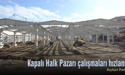Kapalı Halk Pazarı çalışmaları hızlandı