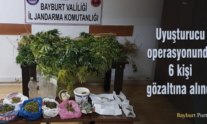Uyuşturucu operasyonunda 6 kişi gözaltına alındı