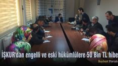 İŞKUR'dan engelli ve eski hükümlülere 50 Bin TL hibe
