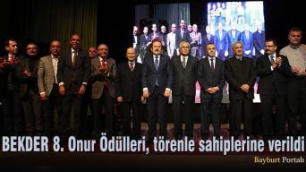 BEKDER 8. Onur Ödülleri, törenle sahiplerine verildi