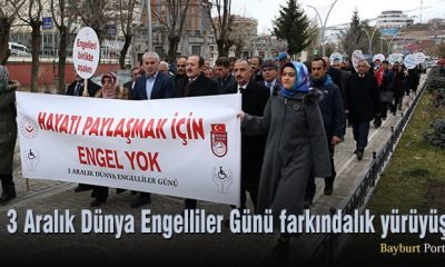 Bayburt'ta 3 Aralık Dünya Engelliler Günü farkındalık yürüyüşü