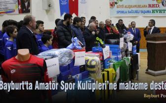 Bayburt'ta Amatör Spor Kulüpleri'ne malzeme desteği