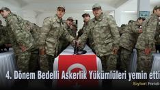 4. Dönem Bedelli Askerlik Yükümlüleri yemin etti