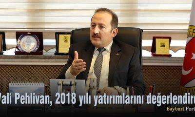Vali Ali Hamza Pehlivan, 2018 yılı yatırımlarını değerlendirdi