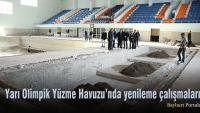 Yarı Olimpik Yüzme Havuzu'nda yenileme çalışmaları