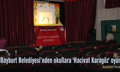 Bayburt Belediyesi'nden okullara 'Hacivat Karagöz' oyunu