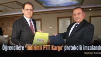 Bayburt Üniversitesi öğrencilerine 'İndirimli PTT Kargo' protokolü
