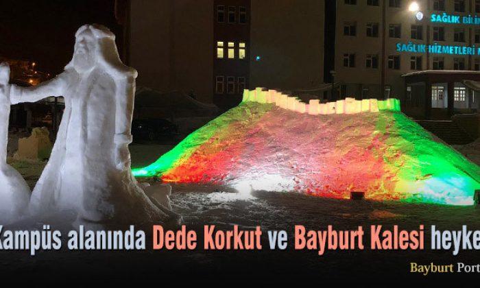 Bayburt Üniversitesi'nde Dede Korkut ve Bayburt Kalesi heykeli
