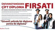 Bayburt Üniversitesi'nden 'Çift Anadal' fırsatı