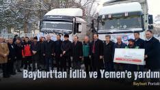 Bayburt'tan İdlib ve Yemen'e yardım