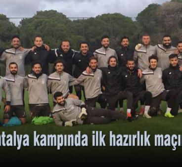 Lider, Antalya kampında ilk hazırlık maçını kazandı