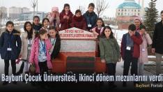 Bayburt Çocuk Üniversitesi, ikinci dönem mezunlarını verdi