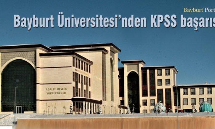 Bayburt Üniversitesi'nden KPSS başarısı