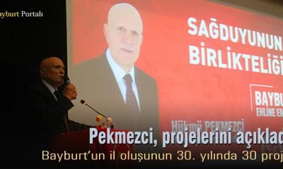 MHP Adayı Hükmü Pekmezci, projelerini açıkladı