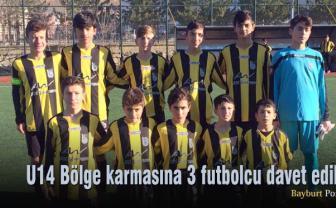 U14 Bölge Karmasına 3 futbolcu davet edildi